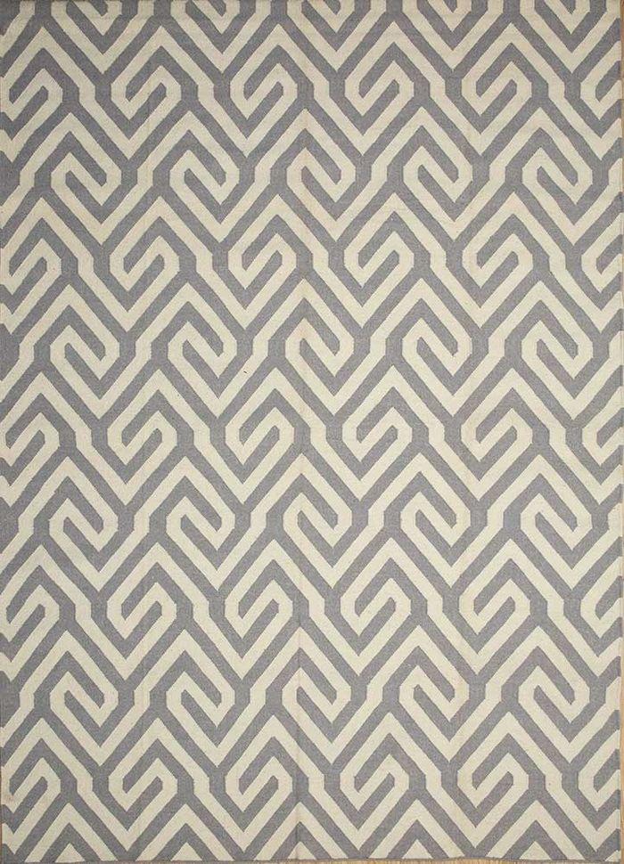anatolia blue wool flat weaves Rug - HeadShot