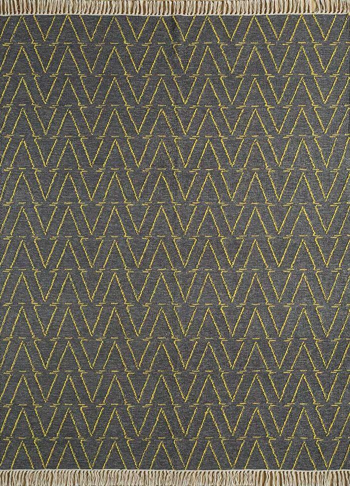 abrash beige and brown wool flat weaves Rug - HeadShot