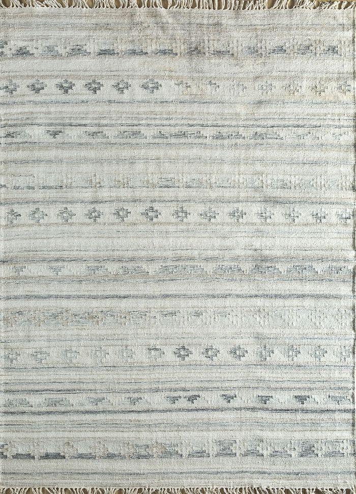 souk ivory wool and viscose flat weaves Rug - HeadShot