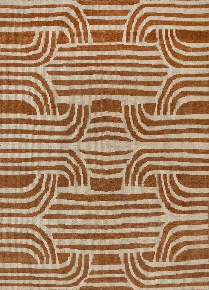 geode ivory wool hand knotted Rug - HeadShot