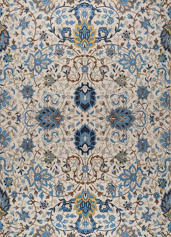 biscayne ivory wool hand knotted Rug - HeadShot
