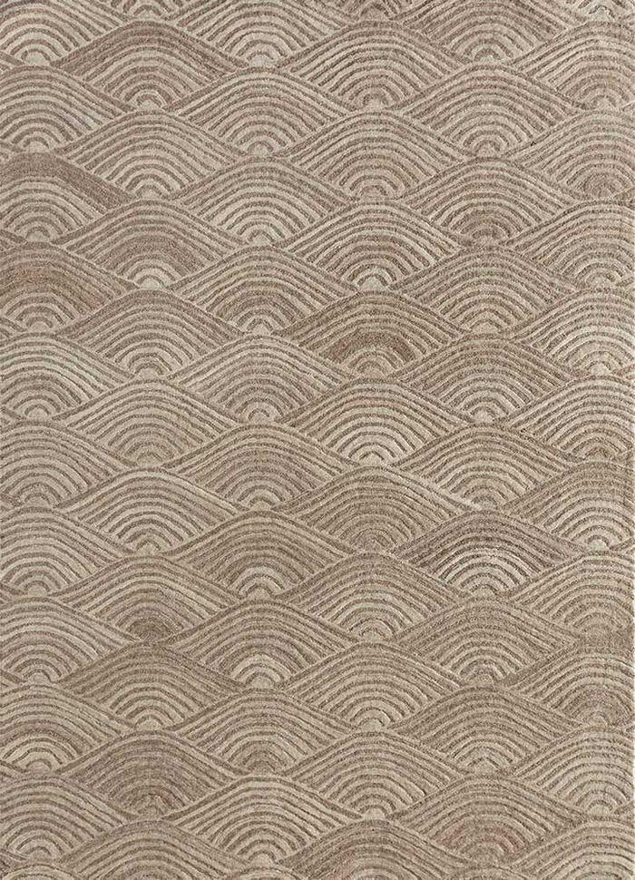 decade beige and brown wool hand tufted Rug - HeadShot