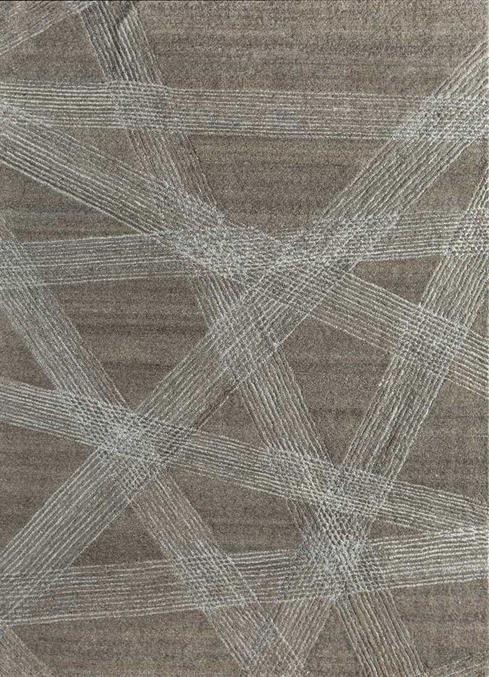 transcend beige and brown wool hand tufted Rug - HeadShot