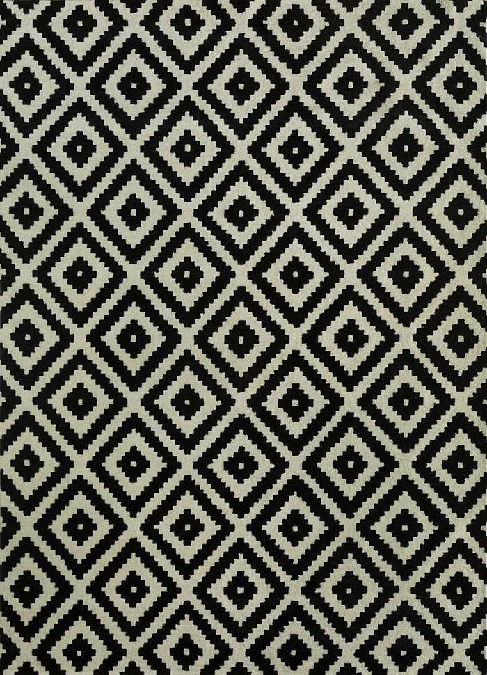cascade grey and black wool hand tufted Rug - HeadShot