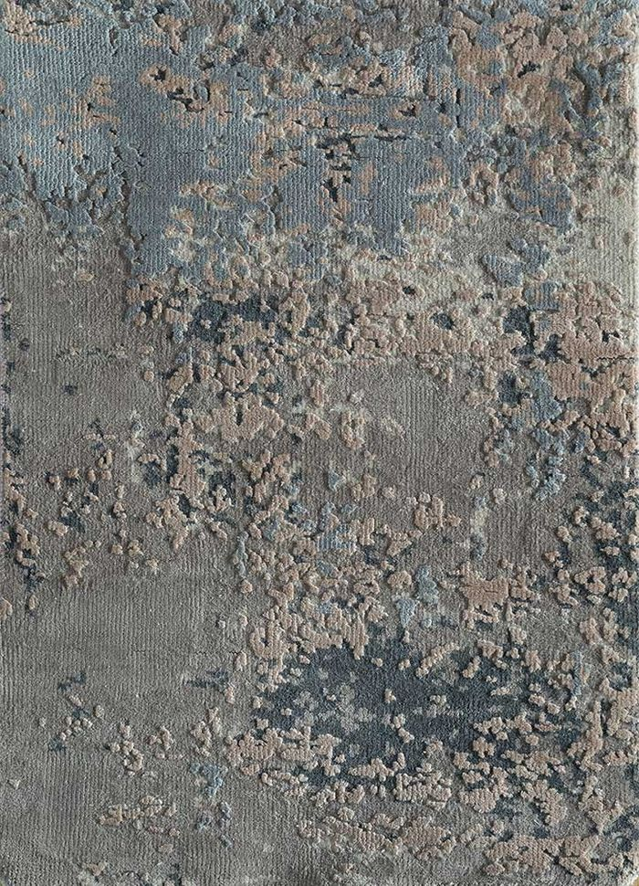 entropy ivory others hand knotted Rug - HeadShot