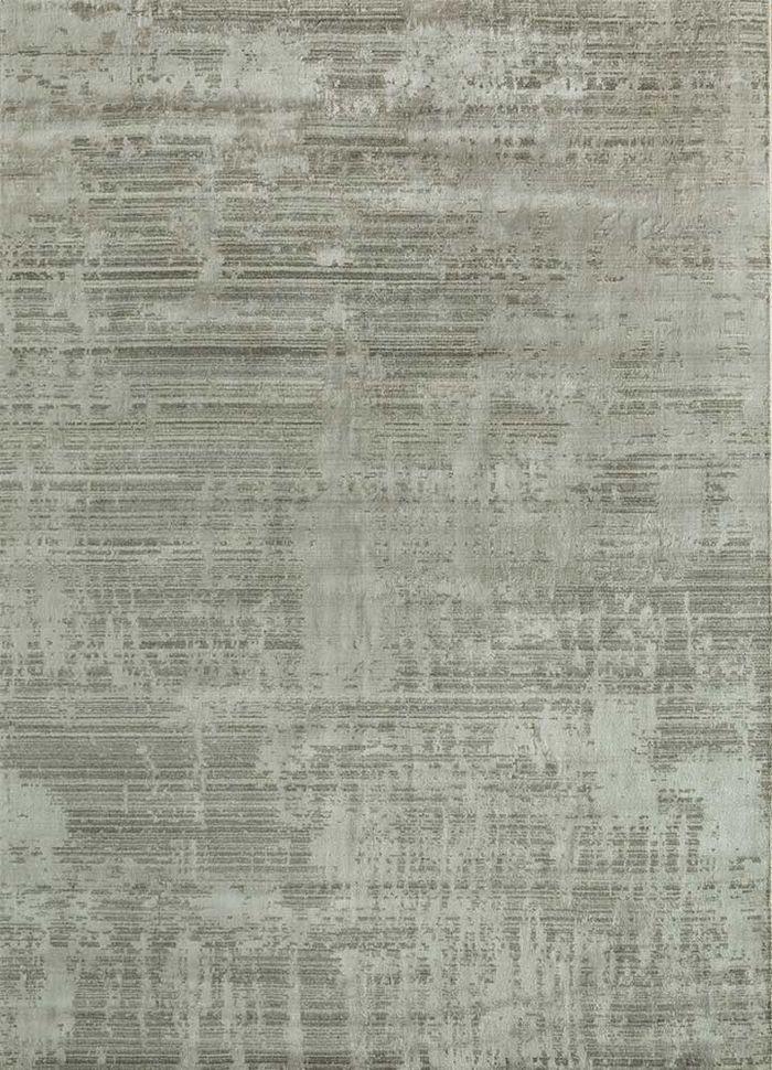 memoir beige and brown wool and viscose hand loom Rug - HeadShot