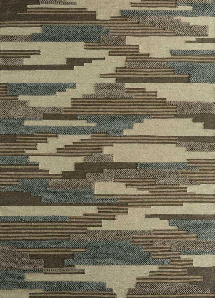 heritage gold wool flat weaves Rug - HeadShot