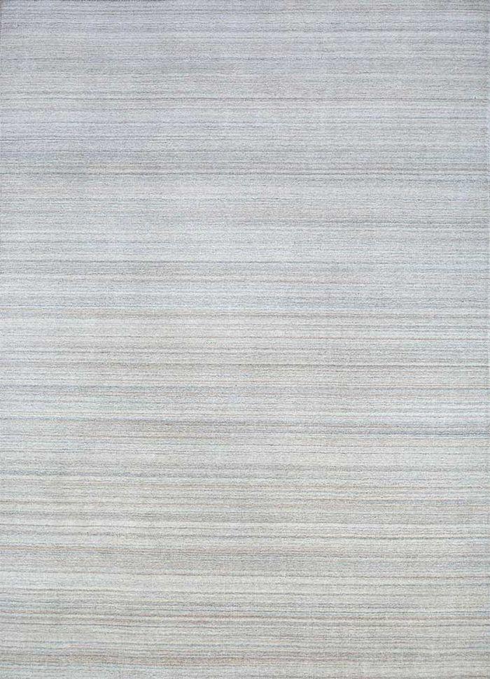 tesoro beige and brown wool hand loom Rug - HeadShot