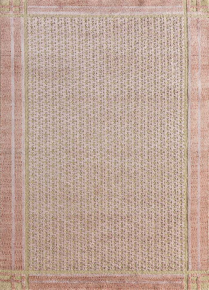 esme red and orange wool and bamboo silk hand knotted Rug - HeadShot