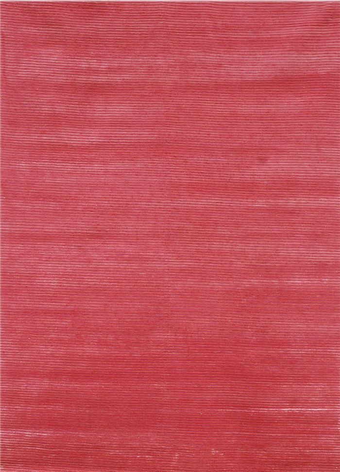 legion pink and purple wool and viscose hand knotted Rug - HeadShot