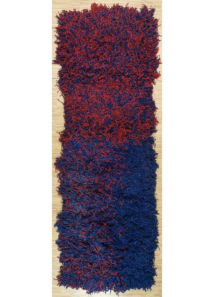 nadia blue wool hand knotted Rug - HeadShot
