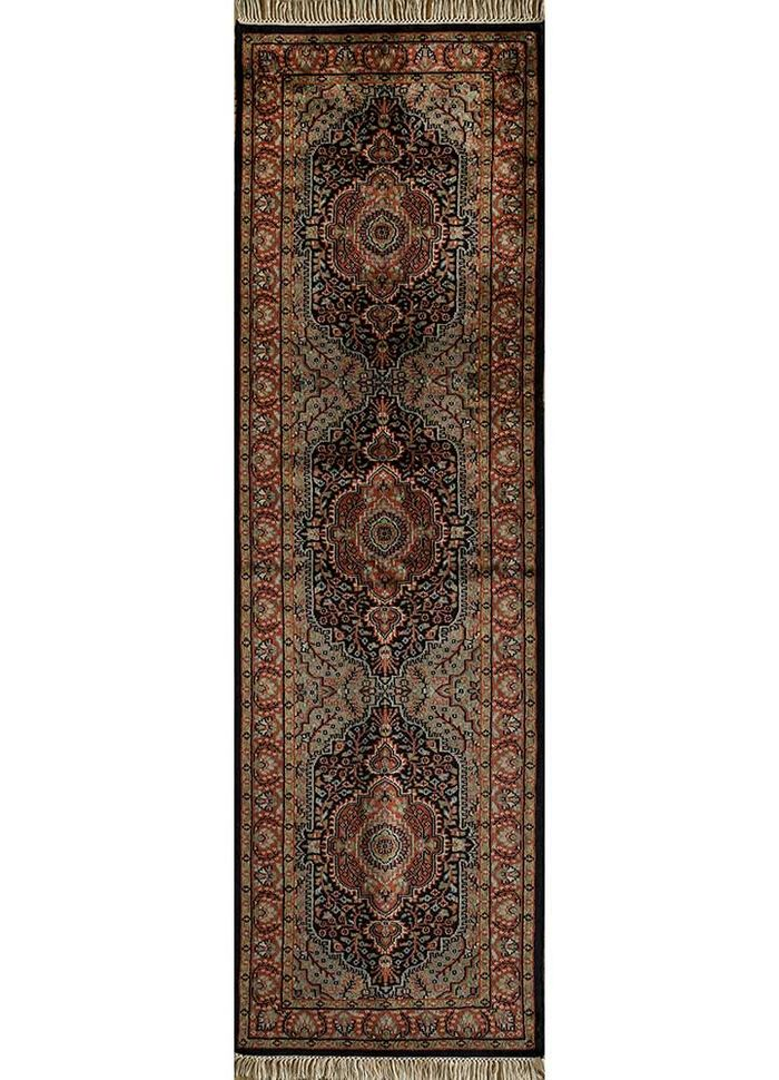amani beige and brown wool hand knotted Rug - HeadShot