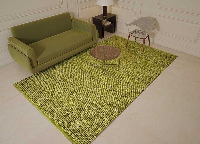 abrash green jute and hemp flat weaves Rug - Loom