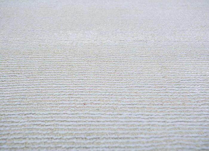 konstrukt ivory wool and viscose hand loom Rug - Loom
