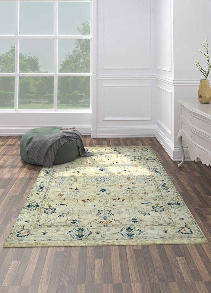 lacuna multi wool and silk hand knotted Rug - Loom