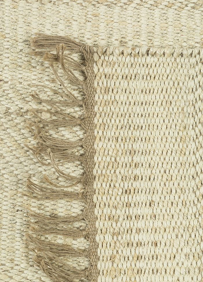 abrash ivory jute and hemp flat weaves Rug - Loom