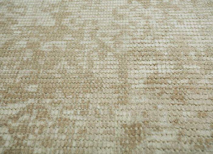 acar beige and brown wool and viscose hand loom Rug - Loom