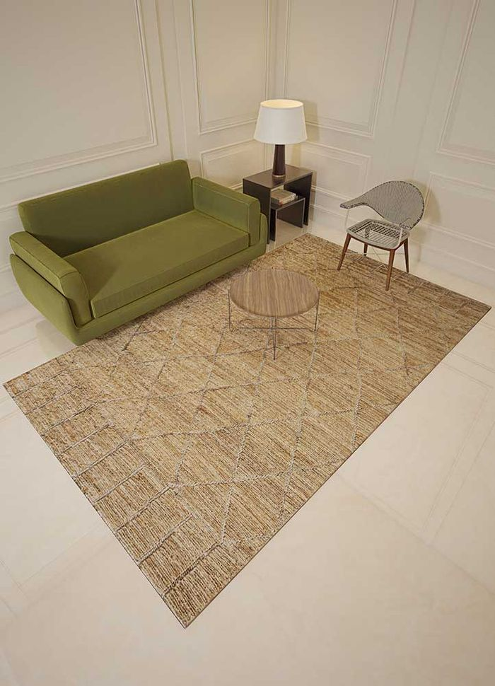 anatolia beige and brown jute and hemp flat weaves Rug - Loom