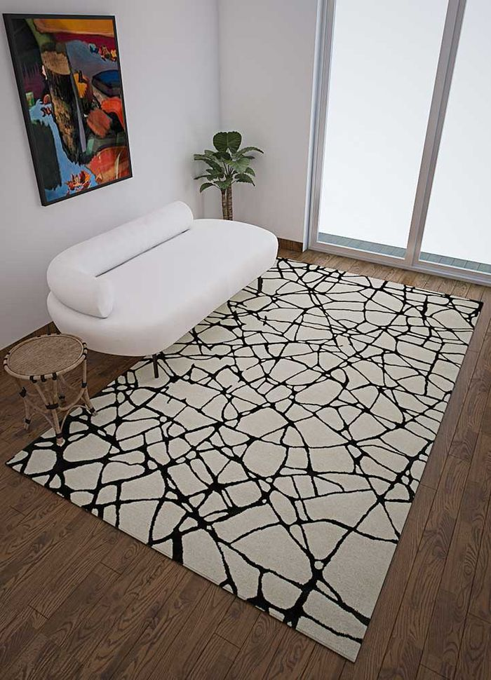 cascade ivory wool and viscose hand tufted Rug - Loom