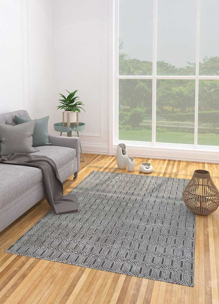 decade beige and brown wool hand tufted Rug - Loom