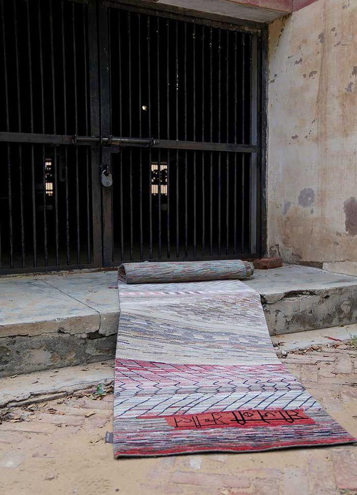 freedom manchaha green wool and bamboo silk hand knotted Rug - Loom