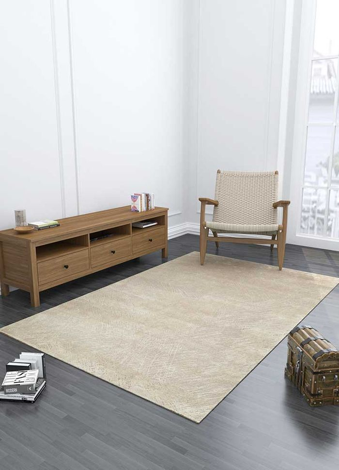 free verse by kavi grey and black wool and silk hand knotted Rug - Loom