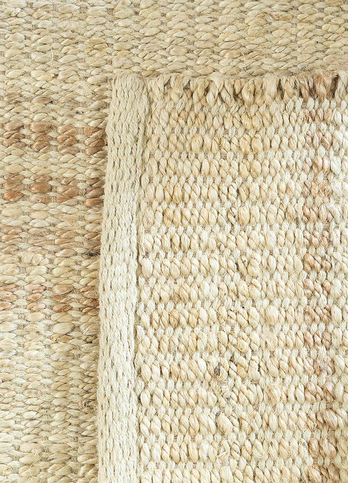 abrash ivory jute and hemp flat weaves Rug - Perspective