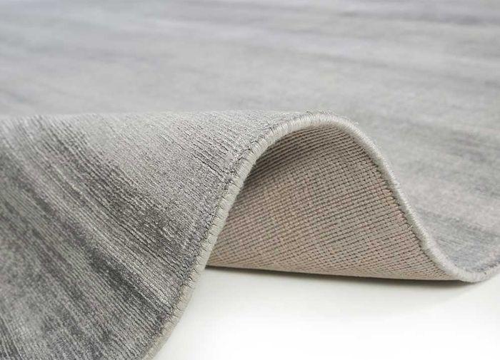 basis grey and black viscose hand loom Rug - Perspective