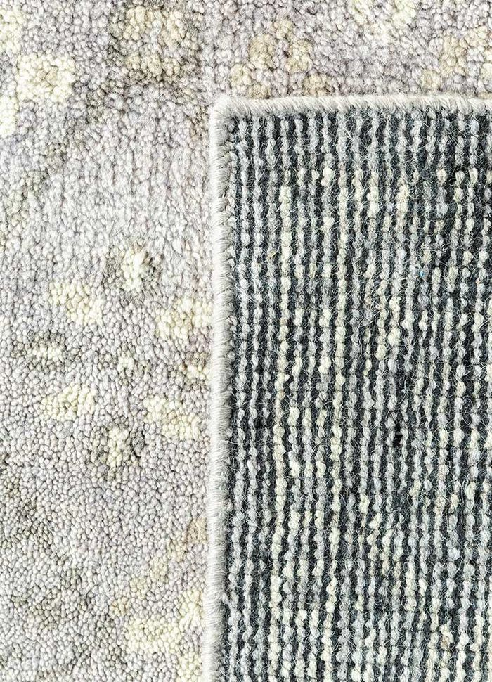 liberty grey and black wool hand knotted Rug - Perspective