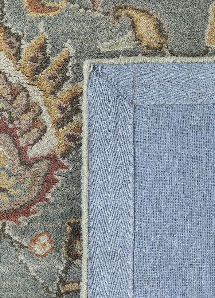 mythos green wool hand tufted Rug - Perspective