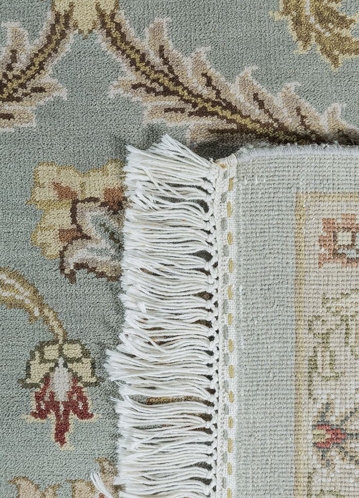 atlantis blue wool hand knotted Rug - Perspective