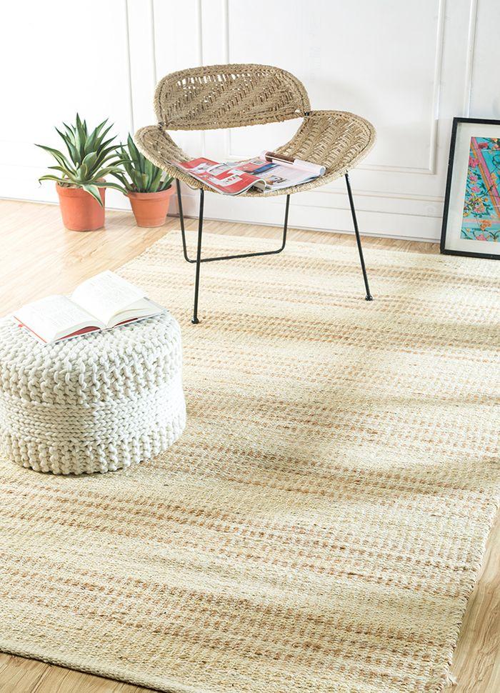 abrash ivory jute and hemp flat weaves Rug - RoomScene
