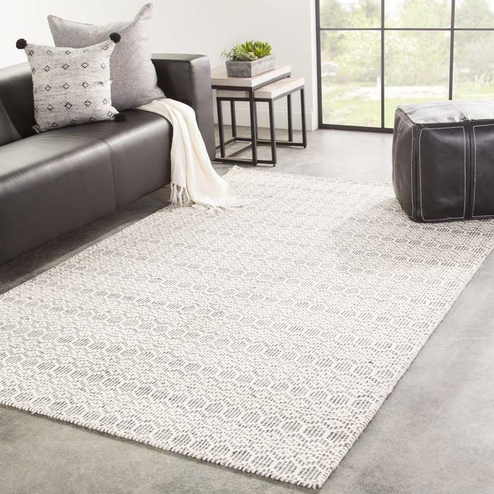 kaross grey and black wool flat weaves Rug - RoomScene