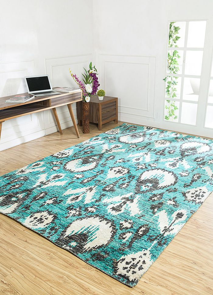 verna blue others hand knotted Rug - RoomScene