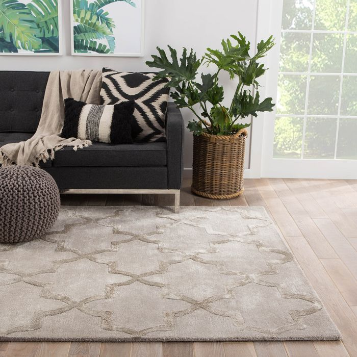 contour grey and black wool and viscose hand tufted Rug - RoomScene