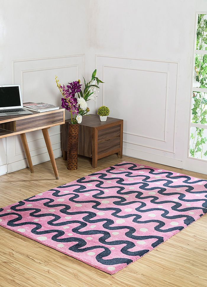 confetti red and orange wool and viscose hand tufted Rug - RoomScene