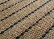 aqua beige and brown jute and hemp flat weaves Rug - CloseUp