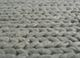 abrash grey and black wool flat weaves Rug - CloseUp