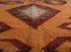 bedouin red and orange wool flat weaves Rug - CloseUp