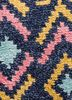 verna blue wool and bamboo silk hand knotted Rug - CloseUp