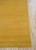 lucid gold wool hand knotted Rug - Corner