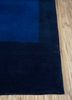 alfreda blue wool hand knotted Rug - Corner