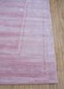 yasmin pink and purple viscose hand loom Rug - Corner
