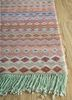artisan originals beige and brown wool and bamboo silk hand knotted Rug - Corner