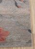 floret ivory wool and silk hand knotted Rug - Corner