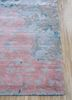 pansy pink and purple wool and silk hand knotted Rug - Corner