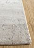 faulty by kavi ivory wool and bamboo silk hand knotted Rug - Corner