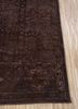 lacuna beige and brown wool and silk hand knotted Rug - Corner