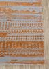 weave friction ivory wool and silk hand knotted Rug - Corner