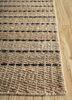 aqua beige and brown jute and hemp flat weaves Rug - Corner